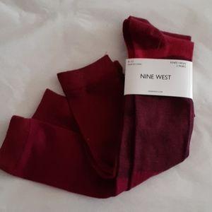 Nine West Knee High Socks  Bundle of 2 NWT